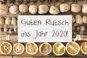 Christmas Food Flat Lay, Guten Rutsch Means Happy New Year 2020