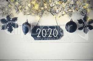 Black Christmas Plate, Fairy Magic Light, Text 2020