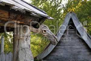 Beautiful viking village at the famous Walchensee