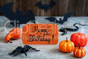 Orange Label, Calligraphy Happy Birthday, Scary Halloween Decoration