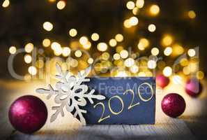 Christmas Background, Sparkling Lights, 2020, Purple Decoration, Stars
