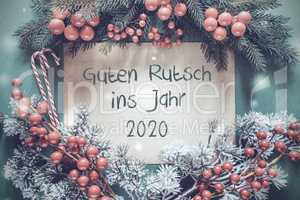 Christmas Garland, Guten Rutsch 2020 Means Happy New Year 2020