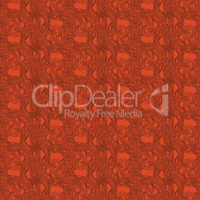 Abstract seamless pattern in brown and orange colors