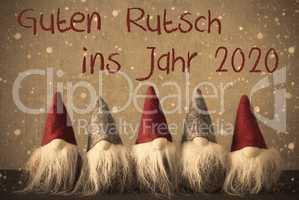 Gnomes, Snowflakes, Guten Rutsch 2020 Means Happy New Year