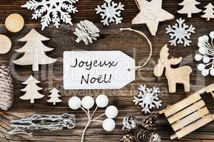 Label, Frame, Decoration, Joyeux Noel Means Merry Christmas