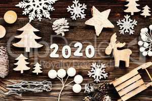Rustic Wooden Christmas Decoration, 2020, Seld And Tree