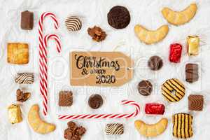 Candy Christmas Collection, Label, Merry Christmas And A Happy 2020