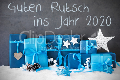 Christmas Gifts, Snow, Guten Rutsch 2020 Means Happy New Year