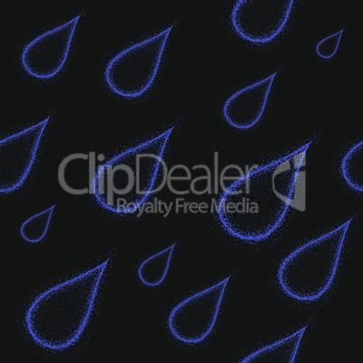 rain grunge seamless background weather vector illustration. Nature water drip drop pattern.