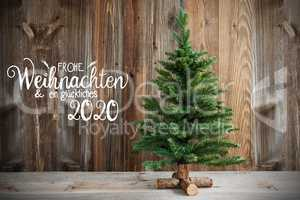 Christmas Tree, Calligraphy Frohe Weihnachten Means Merry Christmas