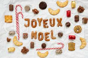 Gingerbread Letters, Candy Collection, Joyeux Noel Means Merry Christmas