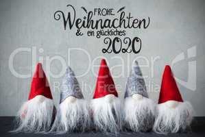 Santa Claus With Hat, Glueckliches 2020 Means Happy 2020