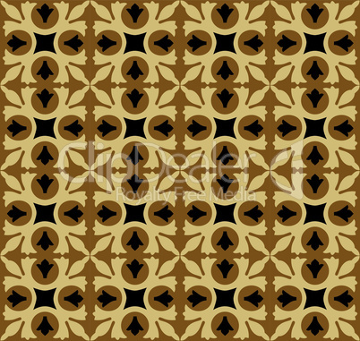 Vector abstract seamless floral tiles pattern