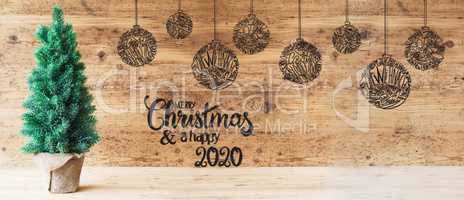Christmas Tree, Ball Illustration, Merry Christmas And A Happy 2020