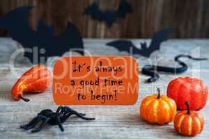 Orange Label, Alwayas Good Time Begin, Scary Halloween Decoration