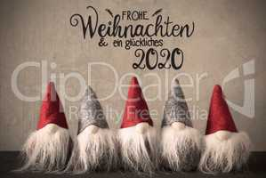 Santa Claus With Cap, Glueckliches 2020 Means Happy 2020