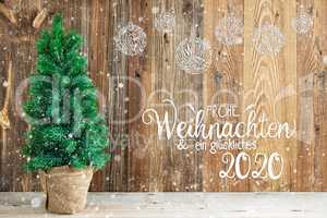 Christmas Ornament, Tree, Frohe Weihnachten Means Merry Christmas, Snow