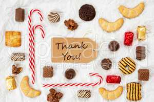 Candy Christmas Collection, Label, Text Thank You