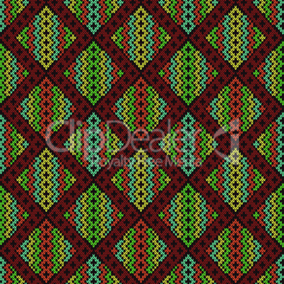 Knitted seamless decorative pattern
