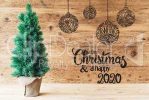 Christmas Tree, Ball, Merry Christmas And A Happy 2020