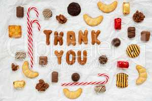 Gingerbread Letters, Candy Christmas Collection, Thank You