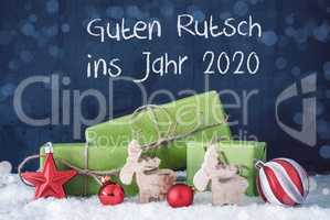 Green Christmas Gifts, Guten Rutsch Ins Jahr 2020 Mean Happy New Year