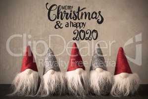 Santa Claus With Cap, Merry Christmas And A Happy 2020