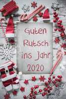 Christmas Flat Lay, Guten Rutsch 2020 Means Happy New Year