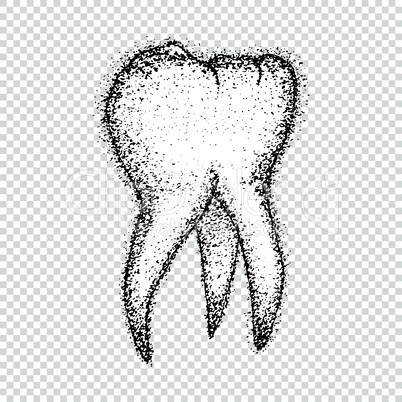 Cartoon tooth vector grunge tattoo
