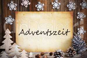 Old Paper, Christmas Decoration, Adventszeit Means Advent Season