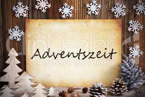 Old Paper, Christmas Decoration, Adventszeit Means Advent Season