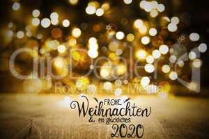 Christmas Lights Background, Glueckliches 2020 Which Means Happy 2020