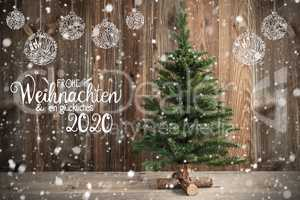 Tree, Calligraphy Frohe Weihnachten Means Merry Christmas, Christmas Decoration
