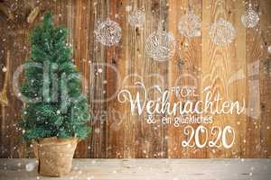 Christmas Tree, Ornament, Frohe Weihnachten Means Merry Chirstmas, Snow