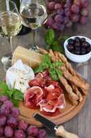 Antipasto. Wine Snack Set