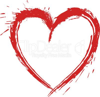 Artistic heart shape drawing