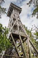 Wildlife sanctuary Hahnheide near Trittau - the watch tower