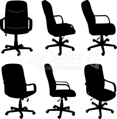 Collection of different office chairs
