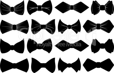 Collection of different bow ties