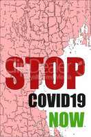 Pandemic stop Novel Coronavirus outbreak covid-19 2019-nCoV stop symbol