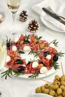 Christmas wreath - antipasto.