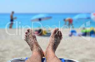 Summer concept, relaxation on the beach