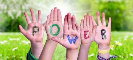 Children Hands Building Word Power, Grass Meadow