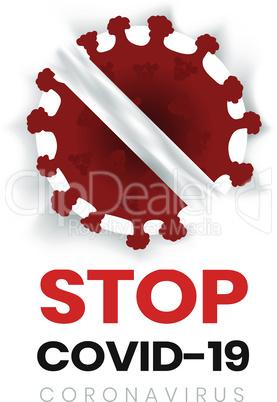 White sign. Lockdown Pandemic stop Novel Coronavirus outbreak covid-19 2019-nCoV  warning and quarantine Vector protect icon. Lock down sign