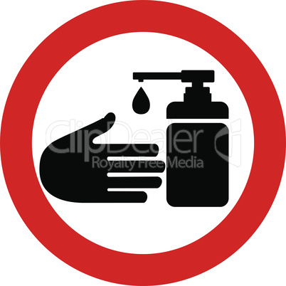 Warning and quarantine sign disinfector. Lockdown Pandemic stop Coronavirus outbreak covid-19 2019-nCoV. Travel with mouth cap mask Vector protect icon Lock down sign