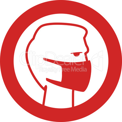 Mouth cap mask Warning and quarantine sign. Lockdown Pandemic stop Coronavirus outbreak covid-19 2019-nCoV. Vector protect icon Lock down sign