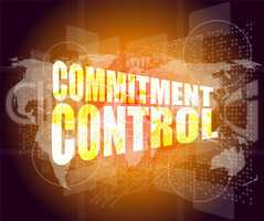 commitment control on business digital touch screen