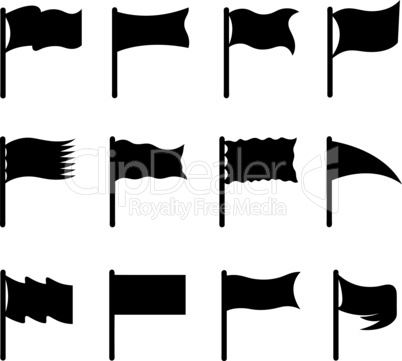 Collection of different flags