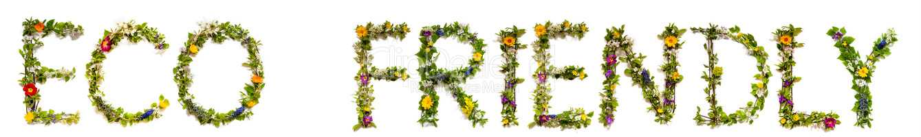 Flower And Blossom Letter Building Word Eco Friendly