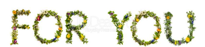 Flower And Blossom Letter Building Word For You